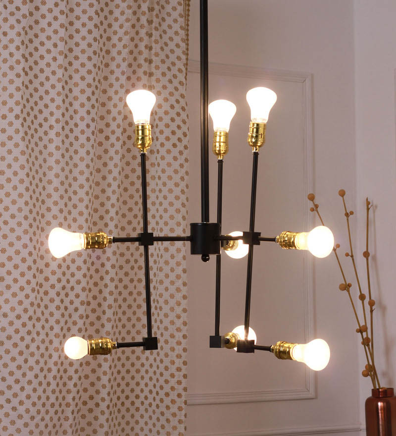 Black iron cavalier industrial chandelier designer lights bandra flea market black and gold steel chandelier mozeypictures Image collections