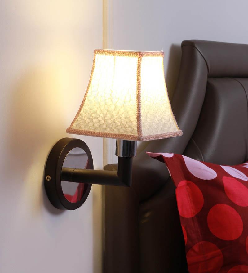 Smitten Off White Beige Fabric Wall Lamp - Designer Lights ...