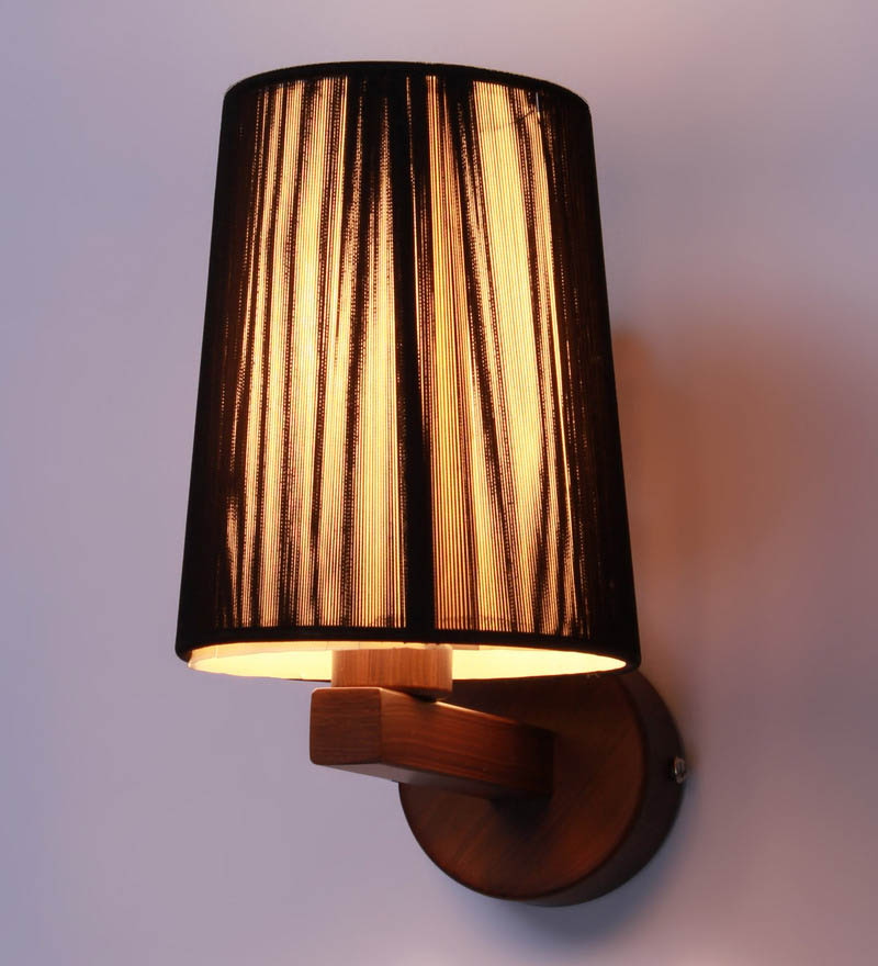 Verona Yellow u0026 Black Fabric Wall L& & Verona Yellow u0026 Black Fabric Wall Lamp - Designer Lights ...